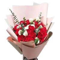 一生一世-19枝红玫瑰送朋友老婆女友爱情友情生日情人节七夕节圣诞节女神节520表白