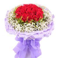 真情祝福-19枝红玫瑰送朋友老婆女友生日爱情友情情人节圣诞节七夕节520表白