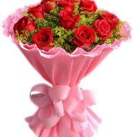 爱情的祝福-11枝红玫瑰送朋友老婆女友爱情友情生日情人节七夕节圣诞节女神节