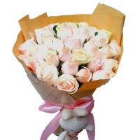 爱与祝福-29枝粉雪山玫瑰送女友老婆朋友闺蜜老师客户领导爱情友情情人节女神节