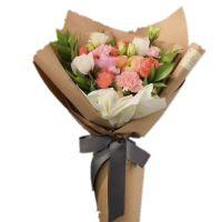 馨情无限-粉玫瑰白玫瑰9枝友情爱情送朋友闺蜜女友老婆白色情人节女神节