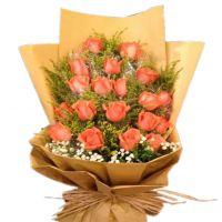 爱如初-19枝粉玫瑰 送闺蜜朋友老婆女友爱情生日友情情人节七夕节圣诞节