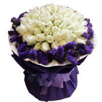 爱的呼吸-66枝或99枝白玫瑰 送朋友闺蜜爱情友情白色情人节 99枝