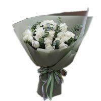 爱的承诺-19枝白玫瑰送朋友闺蜜同事客户领导老师爱情友情白色情人节
