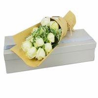 宿命的相遇-11枝白玫瑰送朋友女友老婆闺蜜同事客户领导老师爱情友情白色情人节
