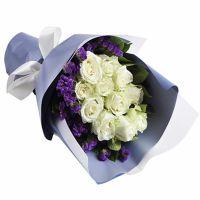 爱恋如风-11枝白玫瑰送朋友女友老师老婆闺蜜领导客户爱情友情白色情人节