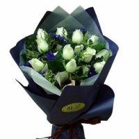 浪漫一生-11枝白玫瑰送朋友闺蜜女友老婆老师领导客户爱情友情白色情人节