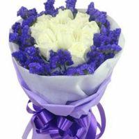 心心相吸-白玫瑰9或11枝送朋友闺蜜女友老婆同事客户领导爱情友情白色情人节