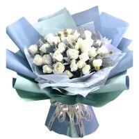 爱的誓言-33枝白玫瑰送朋友老婆女友闺蜜同事领导老师客户爱情友情白色情人节