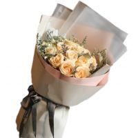珍爱-19枝香槟玫瑰搜送女友老婆朋友同事闺蜜爱情友情圣诞节