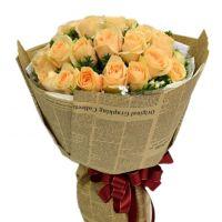 手拉手-18枝香槟玫瑰送朋友闺蜜老师领导同事客户女友老婆爱情友情圣诞节