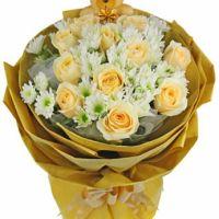 迷情天使-11枝香槟玫瑰送朋友闺蜜同事老婆女友爱情友情