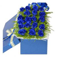我心不变-19枝蓝玫瑰礼盒送女友老婆闺蜜爱情情人节七夕节520表白女神节圣诞节