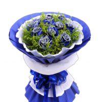 心灵的钥匙-11枝蓝玫瑰送女友老婆闺蜜爱情情人节七夕节女神节圣诞节