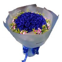 有一点心动-33枝蓝玫瑰女友老婆爱情生日情人节七夕节圣诞节520表白