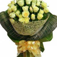 灿烂的偶遇-33枝黄玫瑰送女友老婆朋友闺蜜父母长辈道歉感恩节父亲节