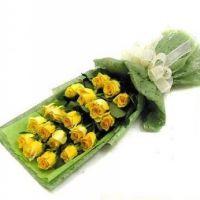 伟大的爱-19枝黄玫瑰送父母长辈老师感恩节父亲节