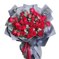 在一起-33枝红玫瑰送老婆女友生日爱情情人节七夕节女神节圣诞节