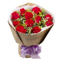 我对你一世温柔-11枝红玫瑰爱情友情送朋友老婆女友情人节七夕节圣诞节女神节