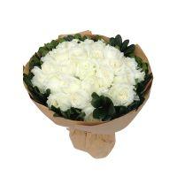 倾心爱你-白玫瑰30枝送朋友女友老婆朋友闺蜜同事友情爱情白色情人节
