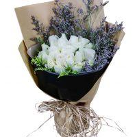 让我爱你一生-19枝白玫瑰送朋友闺蜜同事女友老婆友情爱情白色情人节