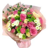 绵绵情意-苏醒香槟玫瑰白玫瑰送女友老婆朋友同事闺蜜爱情友情