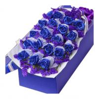 恰似你的温柔-19枝蓝玫瑰礼盒送女友老婆闺蜜爱情友情生日情人节七夕节520表白圣诞节