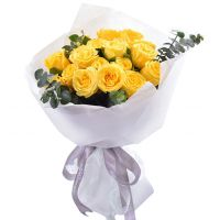祝您安康-18枝黄玫瑰送朋友领导老师父母长辈感恩节父亲节重阳节