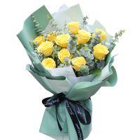 我很爱您-11枝黄玫瑰送老师父母长辈感恩节
