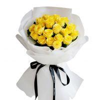一盏明灯-21枝黄玫瑰送领导老师朋友父母长辈感恩节