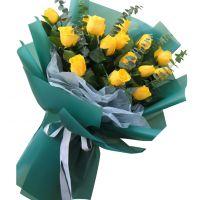 年年如意-15枝黄玫瑰送朋友老婆女友父母长辈感恩节