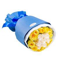 珍惜彼此-黄玫瑰白玫瑰19枝送女友老婆同事朋友闺蜜友情道歉