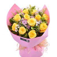 你的宽恕-11枝黄玫瑰送女友老婆朋友父母长辈道歉感恩节