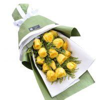 深深的歉意-15枝黄玫瑰送女友老婆朋友父母长辈道歉感恩节