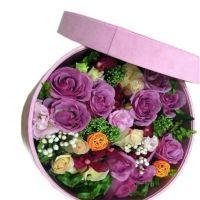 对你的爱-11枝紫玫瑰香槟玫瑰送朋友闺蜜女友老婆同事爱情友情圣诞节