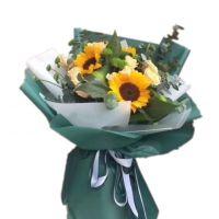 传递心声-香槟玫瑰向日葵送朋友客户病人闺蜜同事女友老婆爱情友情父亲节圣诞节