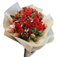 弱水三千只取一瓢-红玫瑰百合生日爱情送老婆女友朋友情人节520表白七夕节圣诞节