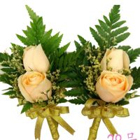 香槟玫瑰胸花(多选)结婚开会嘉宾胸花 26号