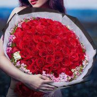 红玫瑰99枝送女友送老婆送恋人生日情人节女神节