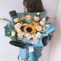 向日葵香槟玫瑰送客户送朋友送父亲送老师送领导父亲节女神节感恩节教师节
