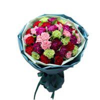 爱的回应 多色康乃馨花束送母亲母亲节感恩节重阳节