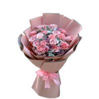 恩情无限 粉色康乃馨粉玫瑰花束送母亲长辈老师教师节母亲节感恩节重阳节