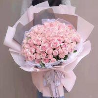 三生三世-66枝粉玫瑰送女友老婆周年纪念情人节生日七夕节白色情人节圣诞节女神节