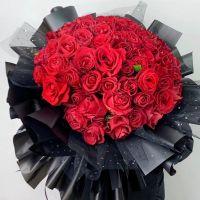 火热的爱-48枝红玫瑰送女友老婆情人节七夕节女神节520表白女神节圣诞节爱情