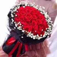 爱意满怀-33枝红玫瑰送女友老婆情人节七夕节女神节圣诞节生日爱情520