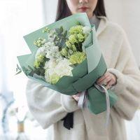 温暖晨曦-洋桔梗康乃馨白玫瑰花束教师节女神节送老师客户
