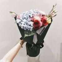 感谢有你-蓝绣球玫瑰混搭花束送老师客户会议祝福教师节女神节
