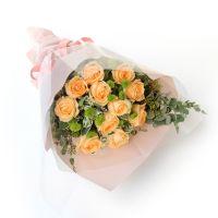 时光未老-11枝香槟玫瑰送老师客户会议祝福教师节女神节