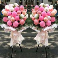 爆款-开业花篮粉玫瑰气球 花篮1个