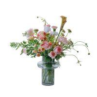 家养鲜花--粉玫瑰马蹄莲粉康乃馨 到店取